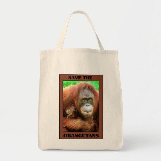 Save the Orangutans Tote Bag