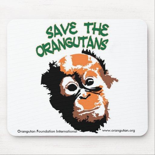 Save the Orangutans with OFI Mousepad