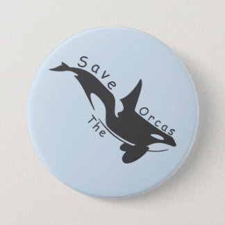 Save the Orcas Pinback Button
