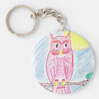 Save The Owls! Basic Round Button Keychain