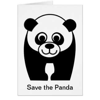 Save the Panda - an Endangered Species Card