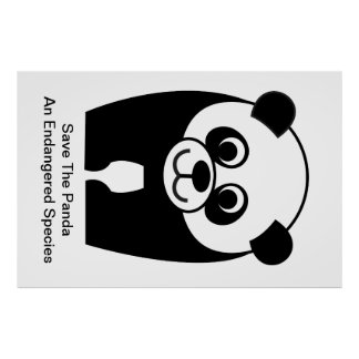 Save the Panda - an Endangered Species Poster