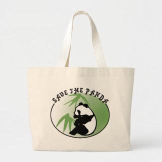 Save the Panda Bear Canvas Bag Jumbo Tote Bag