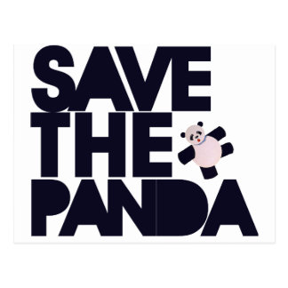 Save the Panda Bear Postcard
