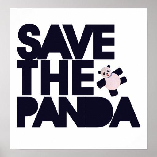Save the Panda Bear Poster