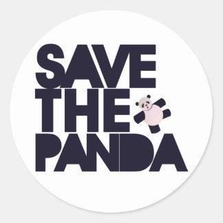 Save the Panda Bear Stickers