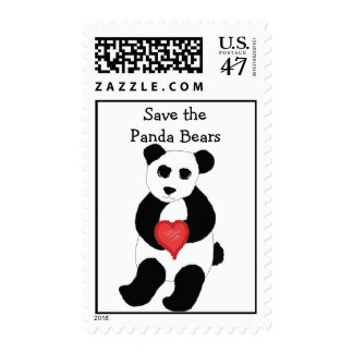 Save the Panda Bears Postage