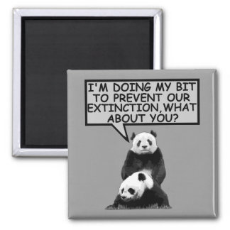 Save the Panda 2 Inch Square Magnet
