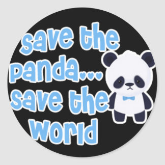 Save The Panda Save The World Stickers