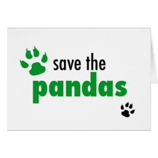 Save The Pandas Card