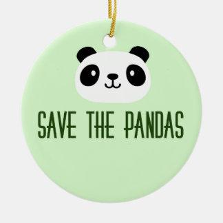 Save The Pandas Ceramic Ornament