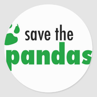 Save The Pandas Classic Round Sticker