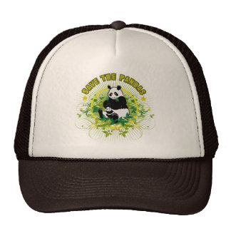 Save the Pandas Mesh Hat