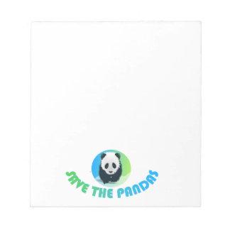 Save the Pandas Notepad