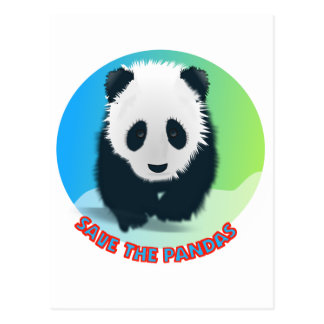 Save The Pandas. Panda Bear Postcard