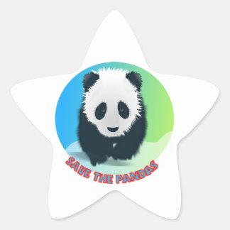 Save The Pandas. Panda Bear Sticker