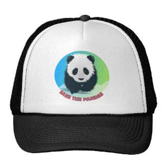 Save The Pandas. Panda Bear Trucker Hat