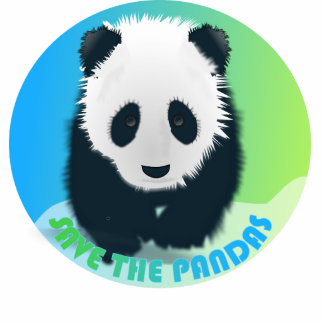 Save the Pandas Photo Sculpture
