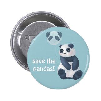 Save the Pandas! Pinback Button