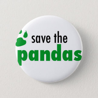Save The Pandas Pinback Button