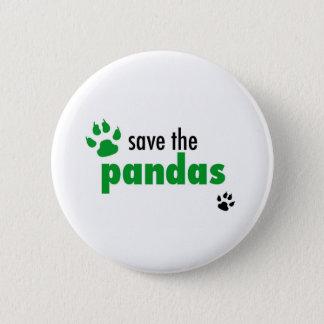 Save The Pandas Pinback Button