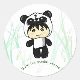 Save the Pandas please? Classic Round Sticker
