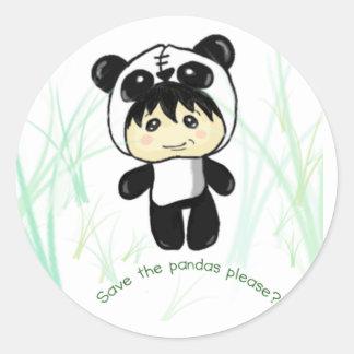 Save the Pandas please? Round Sticker