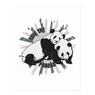 Save the Pandas Postcard