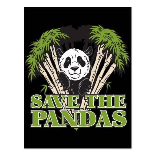 Save the Pandas Postcard