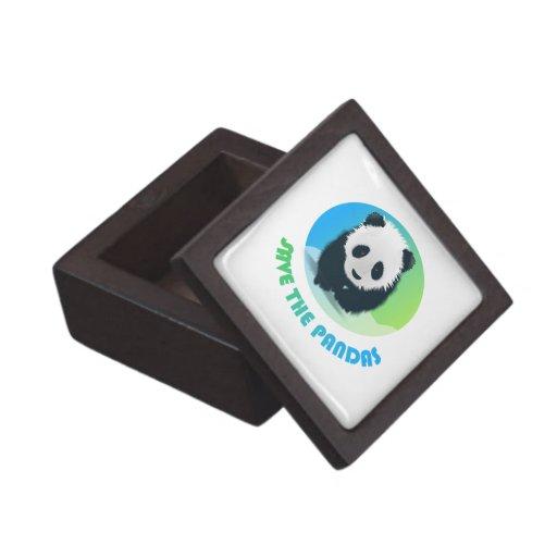 Save the Pandas Premium Square  Gift Box Premium Trinket Boxes