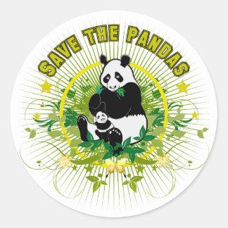 Save the Pandas Round Sticker
