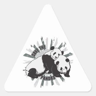 Save the Pandas Triangle Stickers