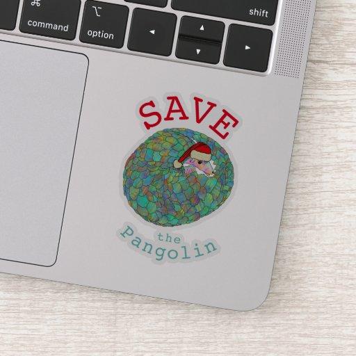 Save the Pangolin Festive Animal Rights Christmas  Sticker