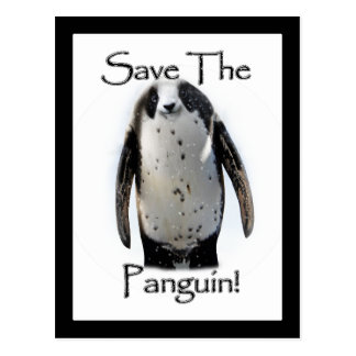 Save The Panguin! Postcard