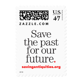 Save the past for our future stamp