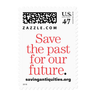 Save the past for our future stamp (red)