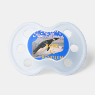 Save the penguin eco-friendly pacifier