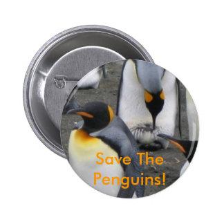 Save The Penguins! Button