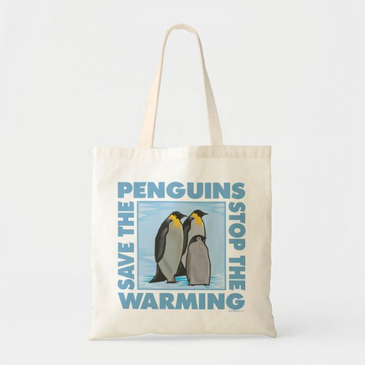 Save the Penguins Canvas Bags