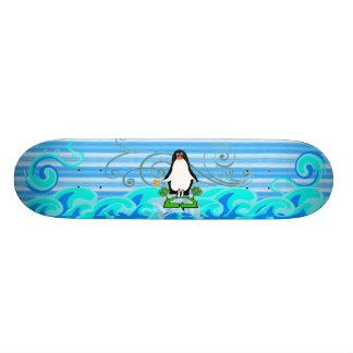 Save the Penguins Custom Skateboard