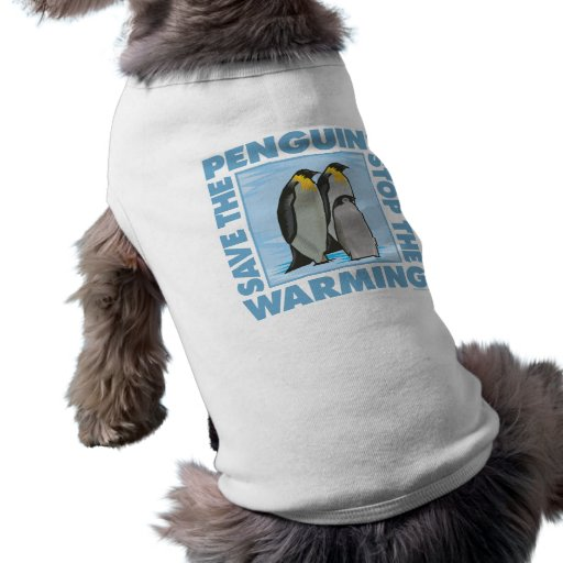 Save the Penguins Doggie Tee Shirt