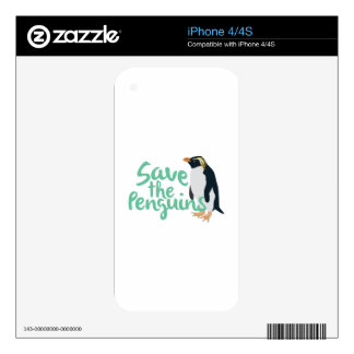 Save the Penguins iPhone 4 Decals