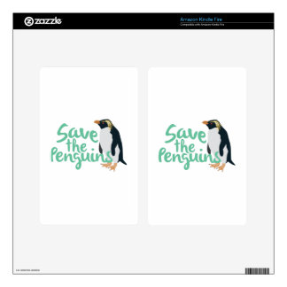 Save the Penguins Kindle Fire Decal