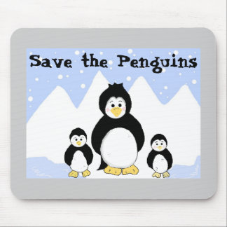 Save the Penguins Mouse Pad