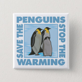 Save the Penguins Pinback Button