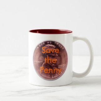 Save the Penny Two-Tone Coffee Mug