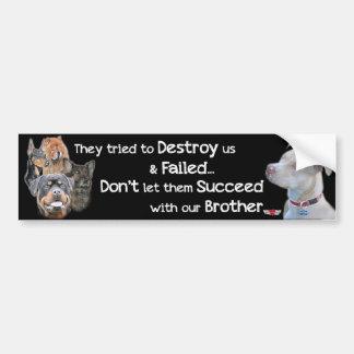 Save the Pitbull Car Bumper Sticker