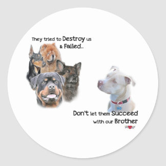Save the Pitbull Classic Round Sticker