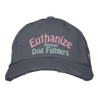 Save the Pitbull, Euthanize the Human Dog Fighters Embroidered Baseball Hat