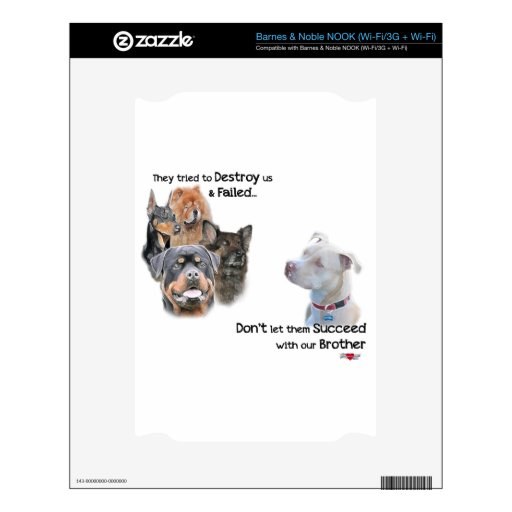 Save the Pitbull NOOK Decal